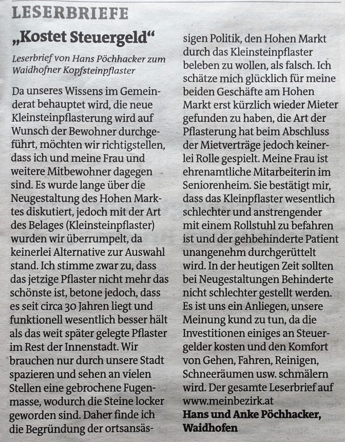 Leserbrief Pöchhacker gekürzt Bez. Bl.
