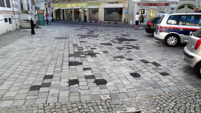 Neues Pflaster St. Pölten - inzwischen abgetragen