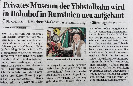 O.Ö.N. Marko Eisenbahnmuseum 25.4.2018