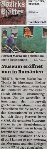 Rumänien Museum Bezirksblätter