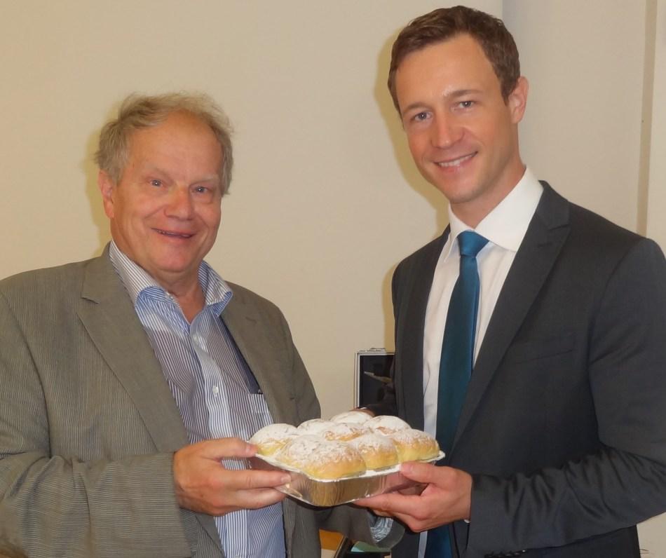 Piaty und ÖVP Generalsekretär Gernot Blümel 28.8.2014