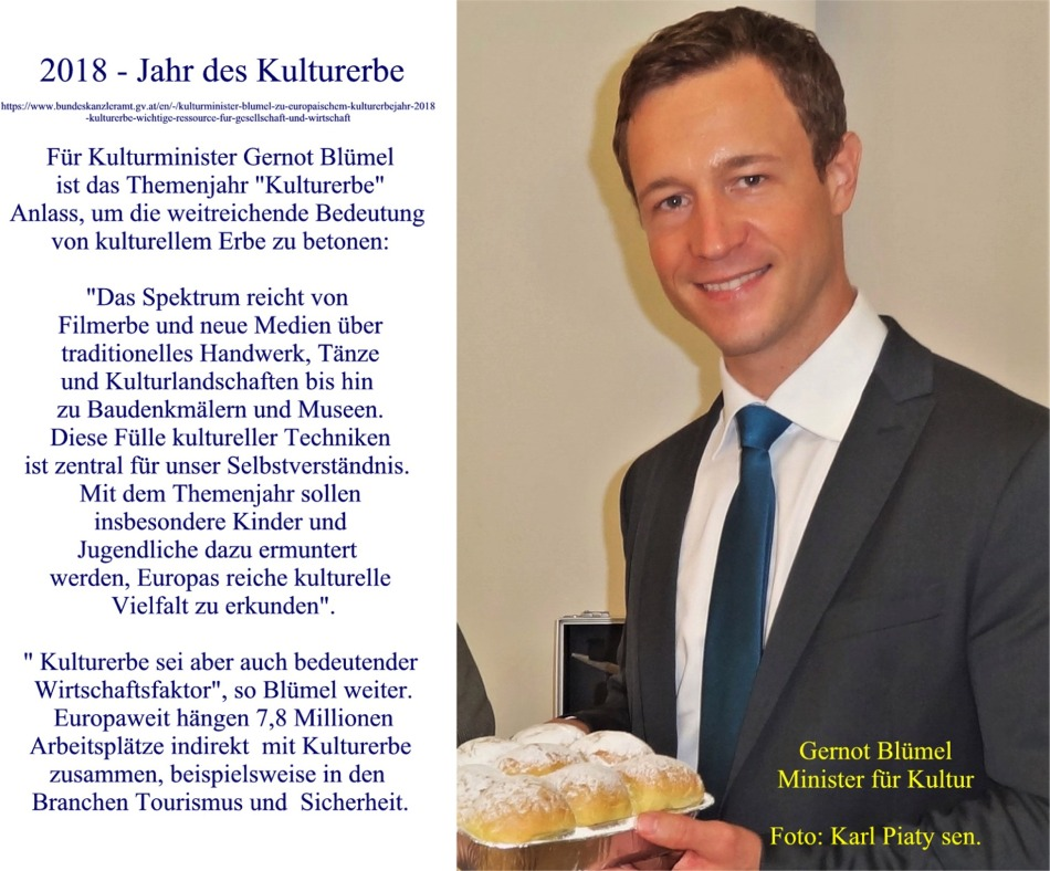 Blümel zu Kulturerbejahr 2018