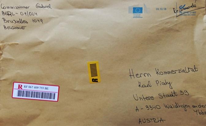 Brief EU - Kouvert
