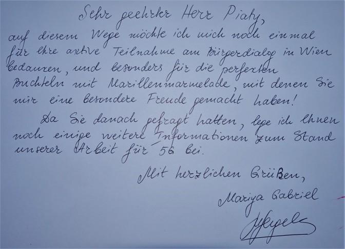Brief Gabriel handgeschrieben