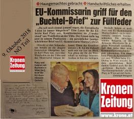 Kronenzeitung - Gabriel - Piaty - Brief