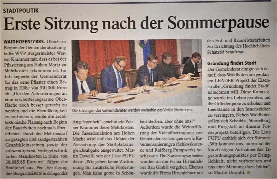 Pflaster Gemeinderat tips