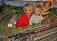 Eisenbahnanlage Wachauer mit dampfender Lok 2