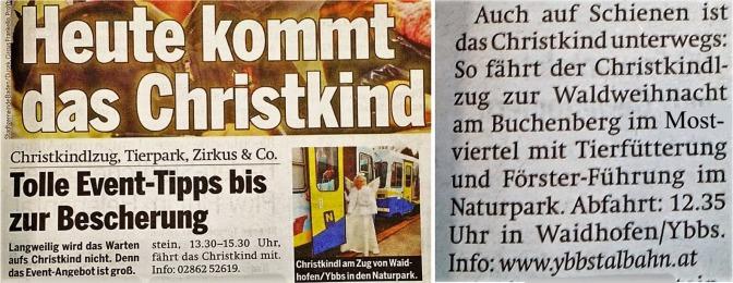 Christkindlzug Österreich Mostviertel