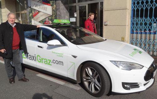E-Taxi Piaty Tesla Graz 1.11.2014
