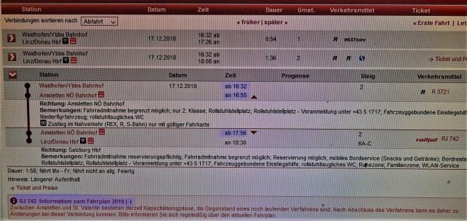 Waidhofen Linz Fahrplan markiert (2)