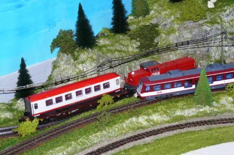 Anlieferung 4090 in Zell am See. Modellanlage Wachauer