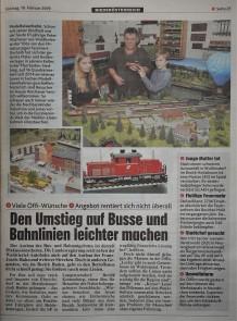 Krone 10.2.2019 Modellbahn und Öffis