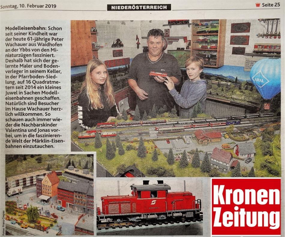 Krone LOGO 10.2.2019 Modellbahn Wachauer