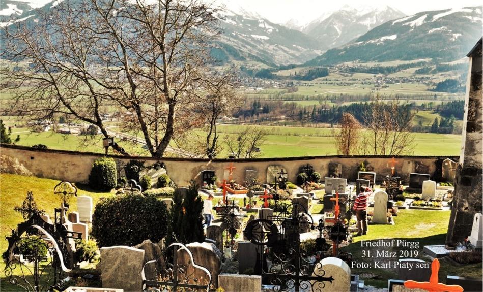 Friedhof Pürgg schrift