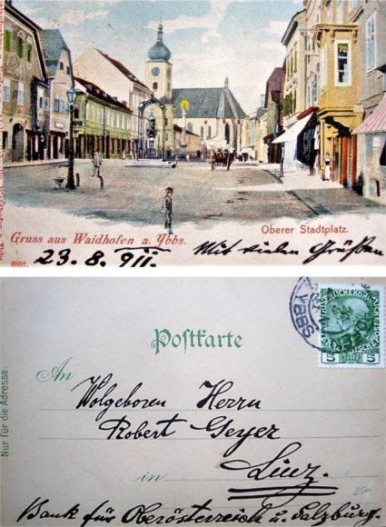 Wetterhaus Postkarte 1911