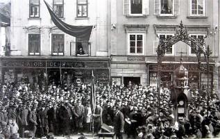 Wetterhäuschen Südtirol-demonstration um 1920