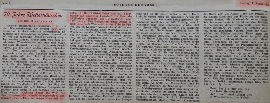 Friess Wetterhaus markiert- 1969 Hierhammer