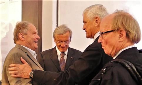 Karl Piaty BK Wolfgang Schüssel EU Botschfater Gregor Woschnagg Ex Minister Peter Jankowitsch Wien 28.4.2014 (2)