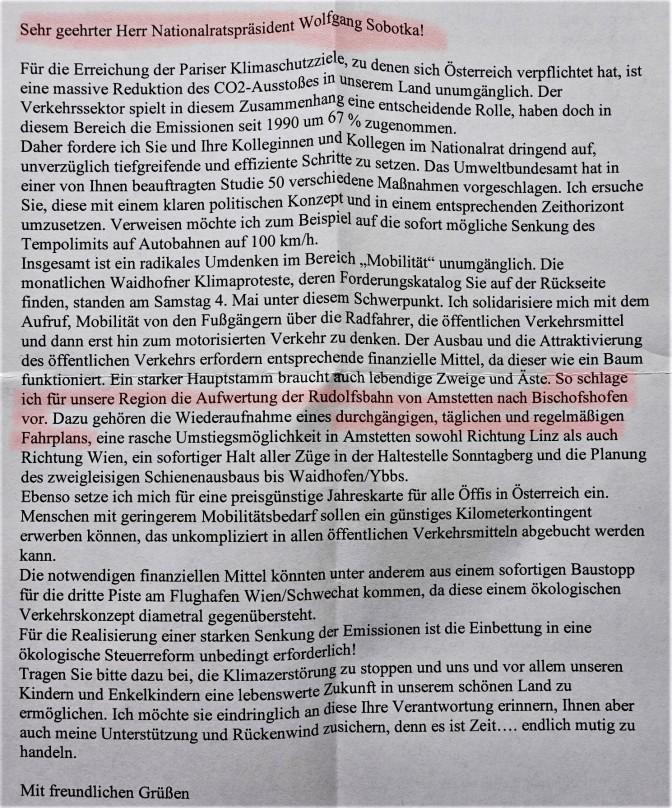Klimabrief an Sobotka markiert (2)