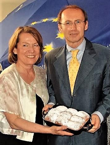 Zwazl und Karas mit Piaty Wuchteln bei EU Veranstaltung