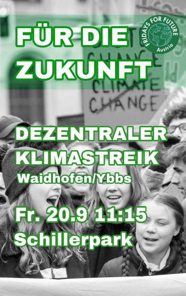 Flyer Klimastreik Waidhofen