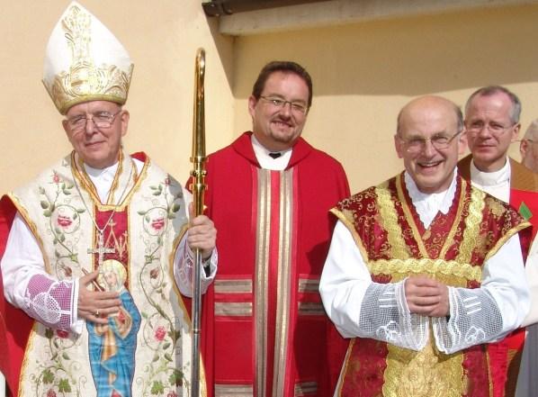 Bischof Küng und Pfarrer Kittl