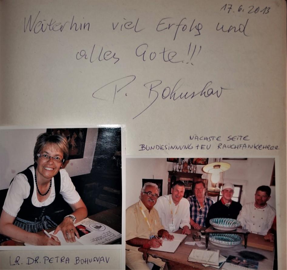 LR Bohuslav Gästebuch