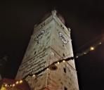 Stadtturm beleuchtet