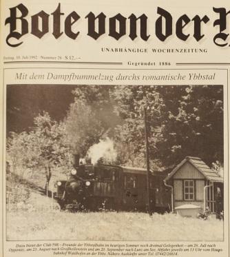 Bote - Dampfsonderfahrten 1992
