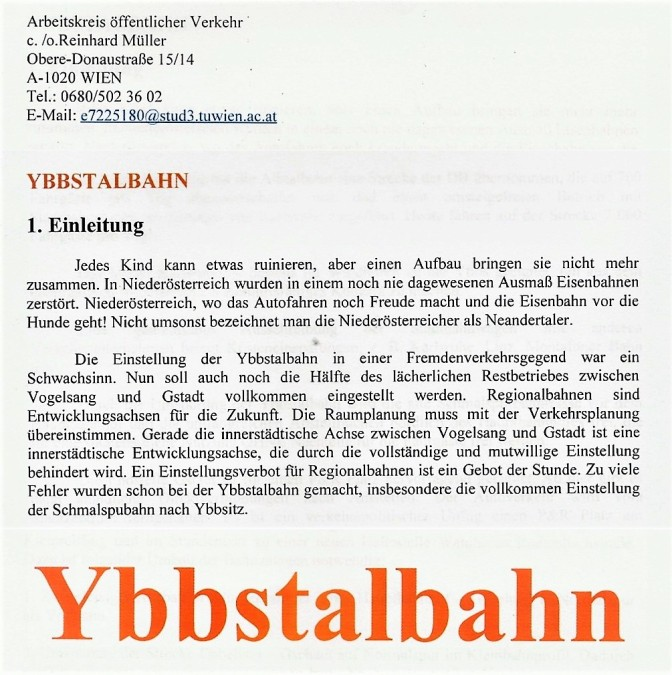 Ybbstalbahn Arbeit öffentlicher Verkehr 2019 (2)