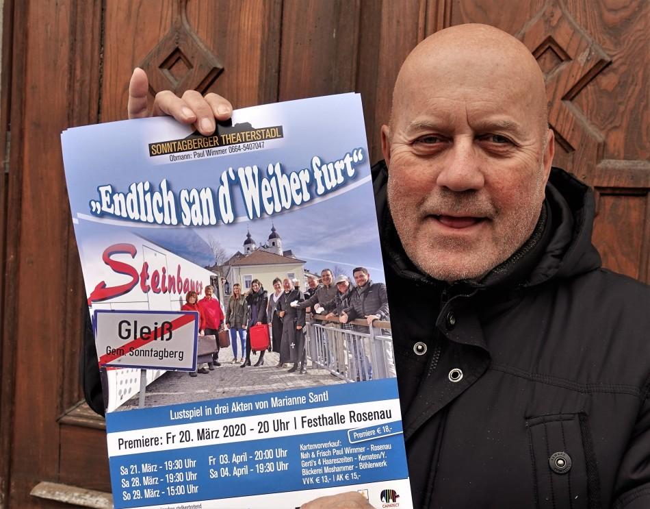 Franz Eichleter mit Plakat