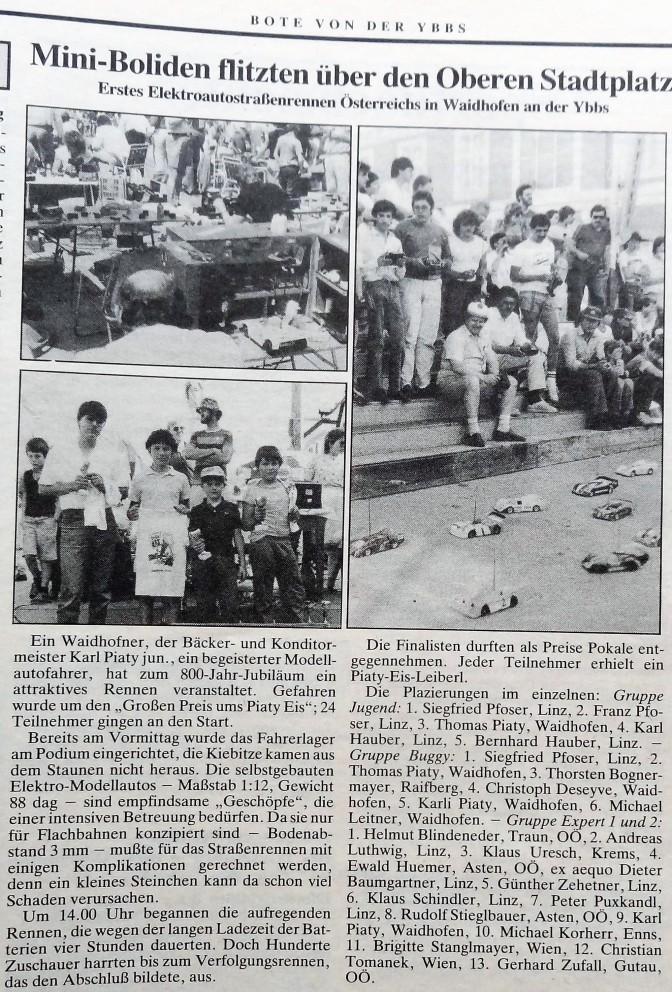 Modellautorennen 30. Mai 1986