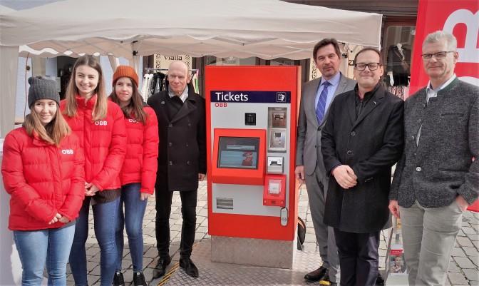 Ticket Automat am Wochenmarkt