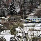 Citybahn im Schnee