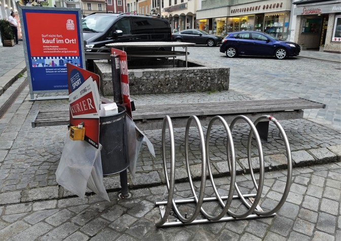 April 2020 Radständer Unterer Stadtplatz