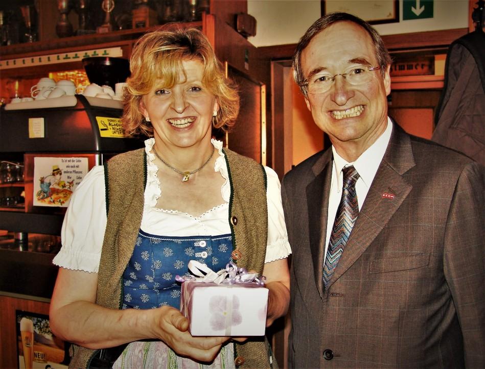 Maria Üblacker und Präsident Dr.Leitl
