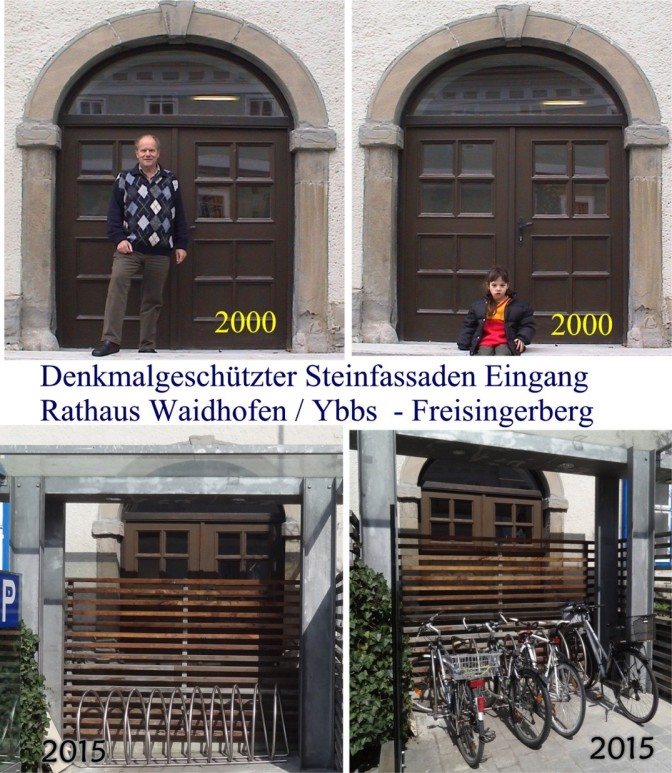 Vergleich Rathaustüre