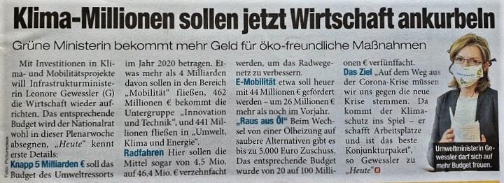 Gewessler Klimainvestitionen 25.5.2020