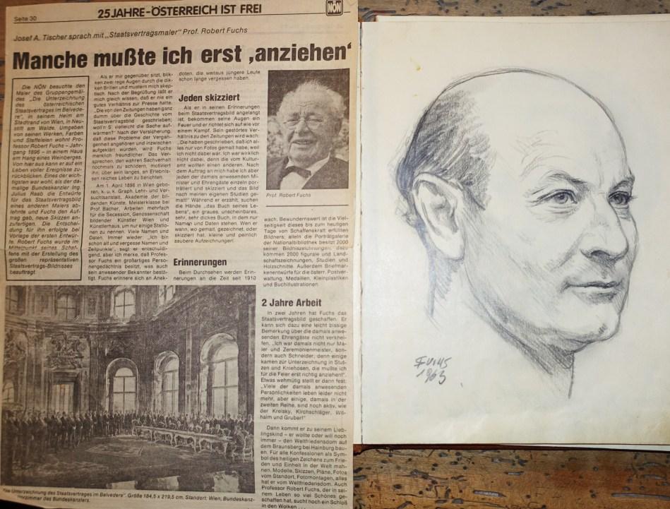 NÖN - Staatsvertragsbild Fuchs - Portrait Piaty sen. 1963