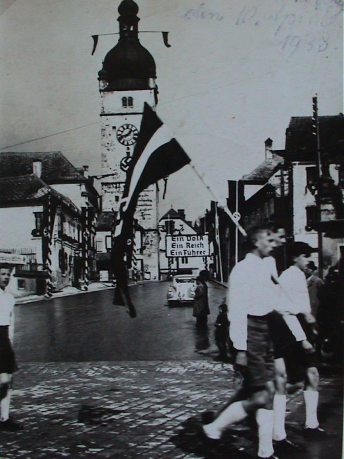 Neu Pflasterung von 1938 - Freisingerberg ohne Pflaster