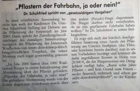 Pflaster schuhfried Leserbrief Ybbstaler (3)
