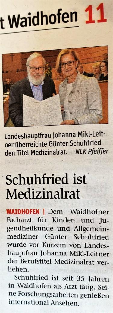 Schuhfried Medizinalrat NÖN (2)
