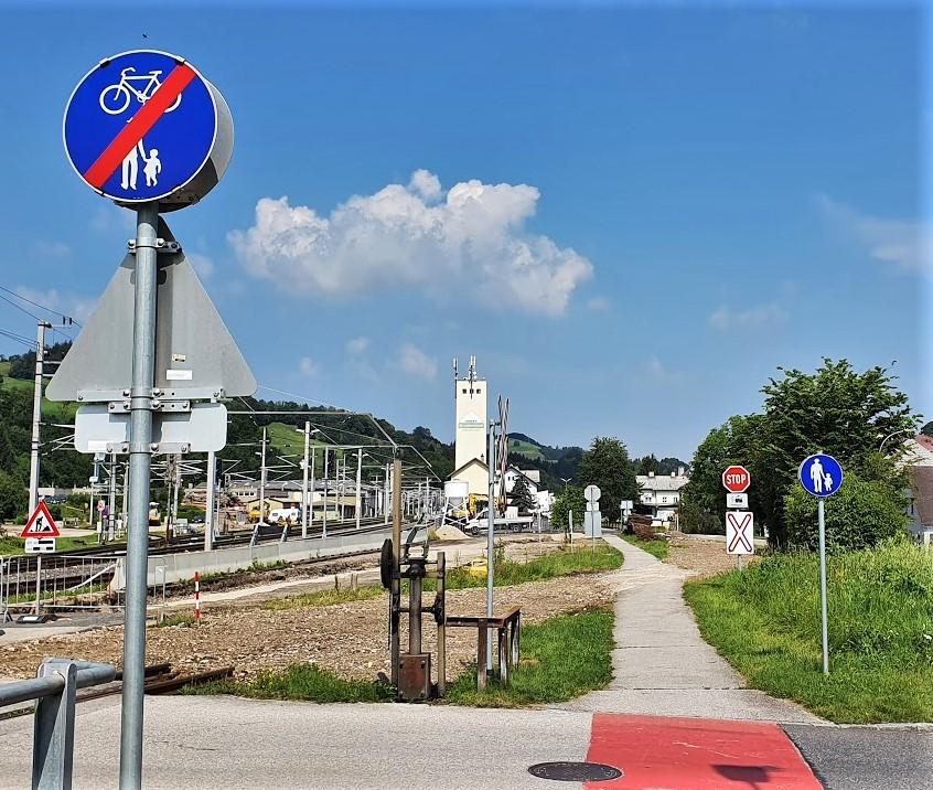 Beim Hauptbahnhof Waidhofen