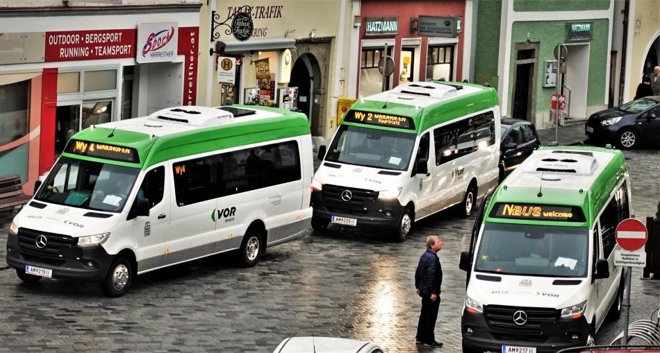 Citybusflotte in Waidhofen Titel