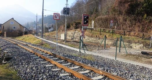 Gesicherter Bahnübergang Kupferschmiedgasse Jänner 2020