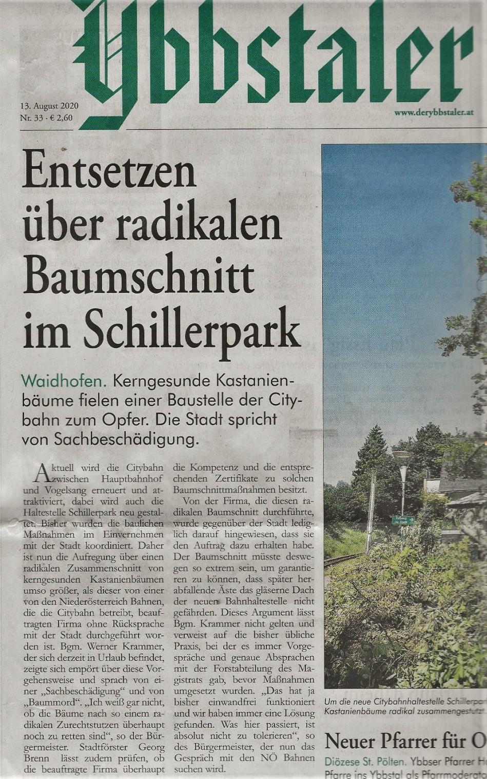 Ybbstaler Bäume 13.8.2020 Citybahn