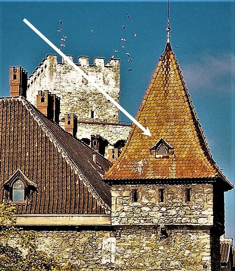 Rothschildschloss altes Dacherl um 2003